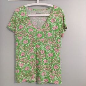 Lilly Pulitzer Pink & Green Tee - xL